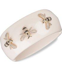cz by kenneth jay lane women's 14k goldplated & crystal bangle bracelet