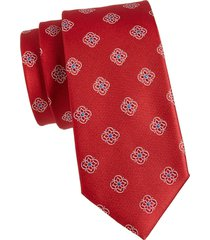 canali men's floral medallion silk tie - red