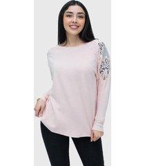 sweater lanilla hippie rosado enigmatica boutique