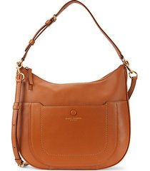empire city zipper leather hobo