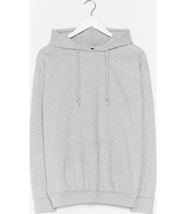 womens the wait is over-sized hoodie - grey marl