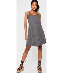 strappy swing dress, charcoal