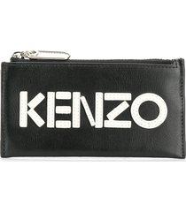 kenzo stitched logo wallet - black