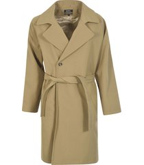 a.p.c. single button belted coat