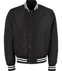 balmain padded bomber jacket