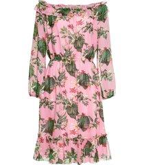 abito a fiori con scollo a barca (rosa) - bodyflirt boutique