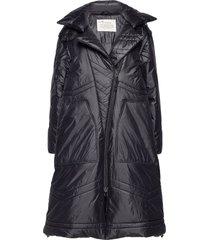 city alpine jacket gevoerde lange jas zwart odd molly