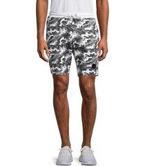 bertigo men's camo drawstring shorts - camo white - size s