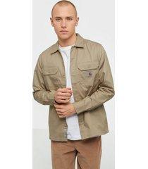 carhartt wip l/s master shirt skjortor beige