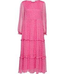 cecilia maxi dress jurk knielengte roze storm & marie