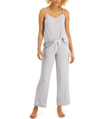 alfani ultra soft tank and pant pajama set, created for macy's