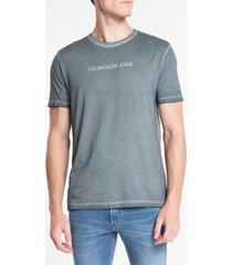 camiseta masculina básica estonada chumbo calvin klein jeans - pp
