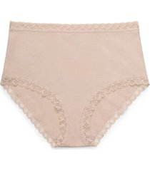 natori bliss full brief panty underwear intimates, women's, beige, cotton, size l natori