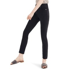 plus size women's madewell 9-inch high waist ankle skinny jeans: tencel edition, size 36 - black