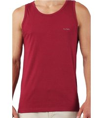 tank top claudio bordowy 1-pack - pierre cardin