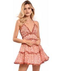vestido primia riviera rosa