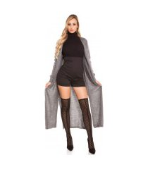 trendy gebreide mantel/cardigan grijs