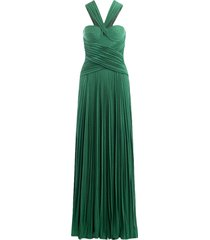 long dress with pleated