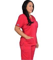 uniforme medico lycra anatomy / dd306/307 - fucsia