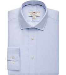 joseph abboud voyager light blue woven pattern shirt