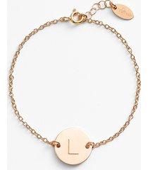 women's nashelle 14k-gold fill initial disc bracelet