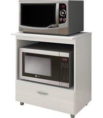 balcão p/ forno e microondas carvalho smoked completa móveis