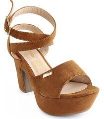 calzado dama tacon 5 1/2 miel 182600170miel