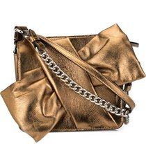 paule ka slanted bow-tie crossbody bag - gold