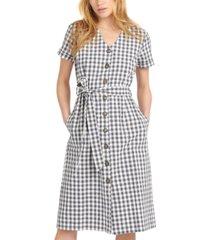 barbour peregrine cotton gingham dress