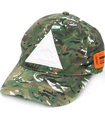 heron preston camouflage baseball cap - green