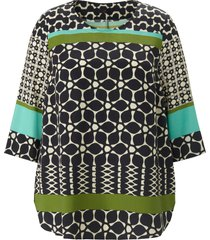 blouse mouwen in 3/4-lengte van emilia lay zwart