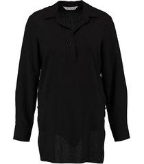 anonyme lange zwarte tuniek blouse