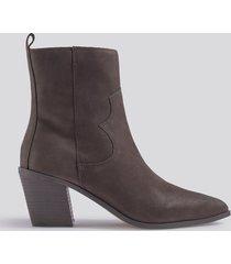 mango ashton ankle boots - brown