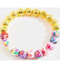 mia painted beaded bracelet - multi