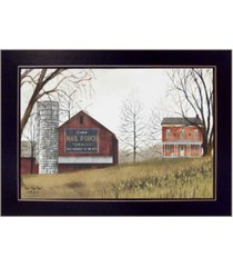 "trendy decor 4u mail pouch barn by billy jacobs, printed wall art, ready to hang, black frame, 18"" x 14"""