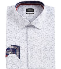 buffalo david bitton men's slim-fit performance stretch micro-print dress shirt