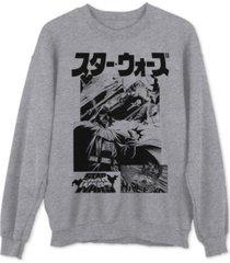 star wars manga panels men's sweatshirt