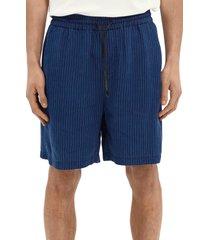 men's scotch & soda stripe swim trunks, size small - blue