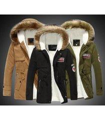 women men winter warm trench coat fur hooded couple jacket parka overcoat padded