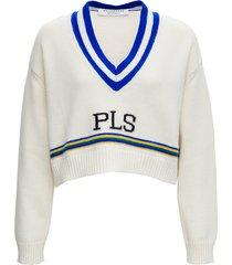 philosophy di lorenzo serafini crop sweater in merino wool
