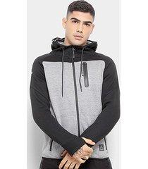 jaqueta de moletom hd aberto masculino