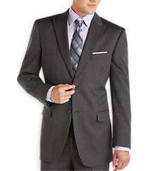 jones new york charcoal stripe peak lapel modern fit suit