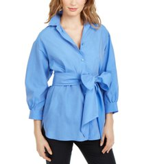 weekend max mara bow-sash tunic shirt