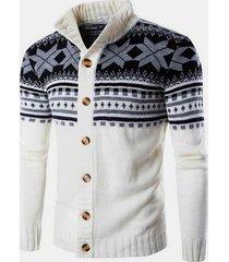 hombres suéter de invierno prendas de punto abrigos de punto de punto cárdigan grueso
