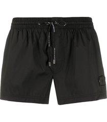 dolce & gabbana short de natação com logo - preto