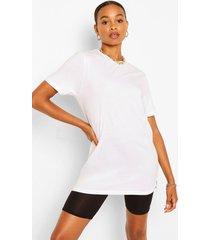basic long line t-shirt, white