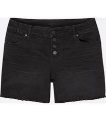 maurices womens vintage black button fly 5in shorts