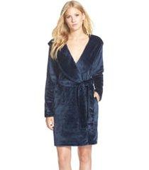 women's ugg miranda robe, size large - blue