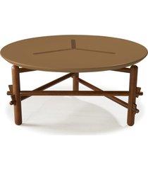 mesa de centro twist 761 cacau/marrom médio - maxima