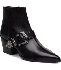 booties 3712 shoes boots ankle boots ankle boot - heel svart billi bi